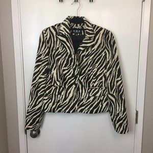 ABS by Allen Schwarz Zebra Faux Fur Jacket - NWT